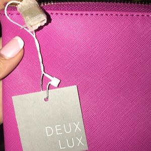 Deux Lux Bags - NWT! DEU LUX LEATHER POUCHES: PINK BLACK & YELLOW